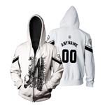 Linkin Park Legend Warriors Rock band Logo White 3D Designed Allover Custom Gift For Linkin Park Fans Zip Hoodie
