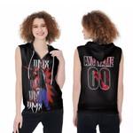 DMX Fire On Performance American rapper Black 3D Designed Allover Custom Gift For DMX Fans Zip Sleeveless Hoodie