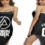 Linkin Park Rock band Logo Black Gradient 3D Designed Allover Custom Gift For Linkin Park Fans Back Cross Dress