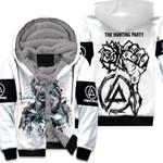 Linkin Park Castle Of Glass Chester Bennington Rock band Logo White 3D Designed Allover Gift For Linkin Park Fans Fleece Hoodie