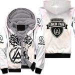 Linkin Park Rock band Special Logo White 3D Designed Allover Gift For Linkin Park Fans Fleece Hoodie