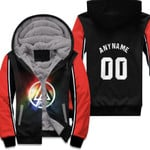 Linkin Park Rock band Rainbow Logo Black Red 3D Designed Allover Custom Gift For Linkin Park Fans Fleece Hoodie