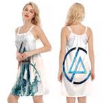 Linkin Park Angels Rock band Logo White 3D Designed Allover Gift For Linkin Park Fans O-neck Dress