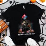 Jack Skellington Dominos Nightmare Before Coffee Spooky Halloween Gift For Jack Skellington Fans Tshirt