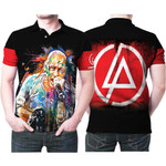 Linkin Park Chester Bennington Art Colorful Rock band Logo Black Red 3D Designed Allover Gift For Linkin Park Fans Polo shirt