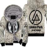 Linkin Park In My Heart The Best Rock band Logo 3D Designed Allover Gift For Linkin Park Fans Fleece Hoodie