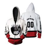 Linkin Park Legend Members Rock band Red White 3D Designed Allover Custom Gift For Linkin Park Fans Zip Hoodie