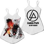 Linkin Park Chester Bennington Rock band Logo White 3D Designed Allover Gift For Linkin Park Fans Romper Jumpsuit