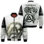 Linkin Park Legend Rock band Logo Black White 3D Designed Allover Gift For Linkin Park Fans Bomber Jacket