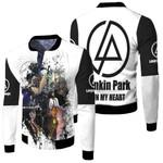 Linkin Park Legend Members Art Rock band Logo White 3D Designed Allover Gift For Linkin Park Fans Fleece Bomber Jacket