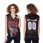 DMX Legend On Stage American rapper Black 3D Designed Allover Custom Gift For DMX Fans Zip Sleeveless Hoodie