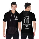 Linkin Park Rock band Logo Black 3D Designed Allover Gift For Linkin Park Fans Short Sleeve Hoodie