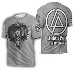 Linkin Park Legend Members In My Heart Rock band Grey 3D Designed Allover Gift For Linkin Park Fans 3D T-shirt