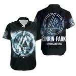 Linkin Park A Thousand Suns Rock band Logo Black 3D Designed Allover Gift For Linkin Park Fans Hawaiian Shirt