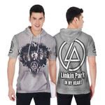 Linkin Park Legend Members In My Heart Rock band Grey 3D Designed Allover Gift For Linkin Park Fans Short Sleeve Hoodie