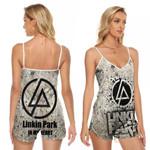 Linkin Park In My Heart Rock band Logo 3D Designed Allover Gift For Linkin Park Fans V-neck Romper Jumpsuit