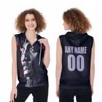 DMX American rapper Avatar Black 3D Designed Allover Custom Gift For DMX Fans Zip Sleeveless Hoodie
