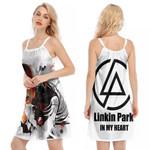 Linkin Park Chester Bennington Rock band Logo White 3D Designed Allover Gift For Linkin Park Fans O-neck Dress