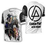 Linkin Park Legend Members Art Rock band Logo White 3D Designed Allover Gift For Linkin Park Fans 3D T-shirt