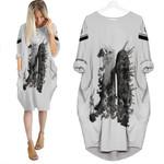 Linkin Park Legend Warriors Rock band Logo White 3D Designed Allover Custom Gift For Linkin Park Fans Batwing Pocket Dress