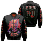 DMX King American rapper Black 3D Designed Allover Custom Gift For DMX Fans Bomber Jacket