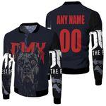 DMX American rapper Pit Bull Black 3D Designed Allover Custom Gift For DMX Fans Fleece Bomber Jacket