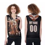 DMX American rapper Vapor Black 3D Designed Allover Custom Gift For DMX Fans Zip Sleeveless Hoodie