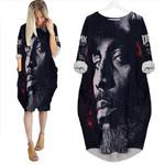 DMX American rapper Avatar Black 3D Designed Allover Custom Gift For DMX Fans Batwing Pocket Dress