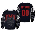 DMX American rapper Pit Bull Black 3D Designed Allover Custom Gift For DMX Fans Sweater