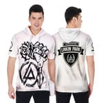 Linkin Park Rock band Special Logo White 3D Designed Allover Gift For Linkin Park Fans Short Sleeve Hoodie