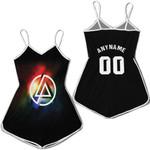 Linkin Park Rock band Rainbow Logo Black Red 3D Designed Allover Custom Gift For Linkin Park Fans Romper Jumpsuit