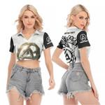 Linkin Park Legend Rock band Logo Black White 3D Designed Allover Gift For Linkin Park Fans V-neck Lapel Blouse