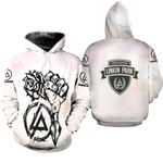 Linkin Park Rock band Special Logo White 3D Designed Allover Gift For Linkin Park Fans Hoodie