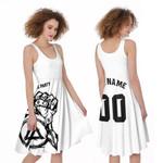 Linkin Park Rock band Special Logo Black White 3D Designed Allover Custom Gift For Linkin Park Fans A-line Dress
