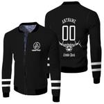 Linkin Park Rock band Logo Black 3D Designed Allover Gift For Linkin Park Fans Fleece Bomber Jacket