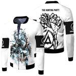 Linkin Park Castle Of Glass Chester Bennington Rock band Logo White 3D Designed Allover Gift For Linkin Park Fans Fleece Bomber Jacket