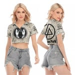 Linkin Park In My Heart The Best Rock band Logo 3D Designed Allover Gift For Linkin Park Fans V-neck Lapel Blouse