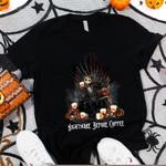 Jack Skellington Folgers Nightmare Before Coffee Spooky Halloween Gift For Jack Skellington Fans Tshirt