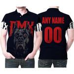 DMX American rapper Pit Bull Black 3D Designed Allover Custom Gift For DMX Fans Polo shirt