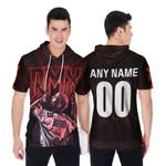 DMX Legend On Stage American rapper Black 3D Designed Allover Custom Gift For DMX Fans Short Sleeve Hoodie