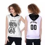 Linkin Park Rock band Special Logo Black White 3D Designed Allover Custom Gift For Linkin Park Fans Sleeveless Hoodie