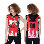 DMX Dark Man X American rapper Fire Red Black 3D Designed Allover Custom Gift For DMX Fans Sleeveless Hoodie