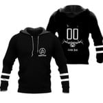 Linkin Park Rock band Logo Black 3D Designed Allover Gift For Linkin Park Fans Hoodie