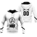 Linkin Park Rock band Logo White Gradient 3D Designed Allover Custom Gift For Linkin Park Fans Hoodie