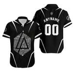 Linkin Park Famous Songs Rock band Logo Black 3D Designed Allover Custom Gift For Linkin Park Fans Hawaiian Shirt
