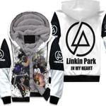 Linkin Park Legend Members Art Rock band Logo White 3D Designed Allover Gift For Linkin Park Fans Fleece Hoodie
