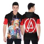 Linkin Park Chester Bennington Art Colorful Rock band Logo Black Red 3D Designed Allover Gift For Linkin Park Fans Short Sleeve Hoodie