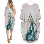 Linkin Park Angels Rock band Logo White 3D Designed Allover Gift For Linkin Park Fans Batwing Pocket Dress
