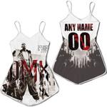 DMX Sounds Vibes Radio American rapper Black White 3D Designed Allover Custom Gift For DMX Fans Romper Jumpsuit