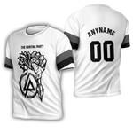 Linkin Park Rock band Special Logo Black White 3D Designed Allover Custom Gift For Linkin Park Fans 3D T-shirt